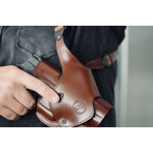 Folding leather shoulder holster