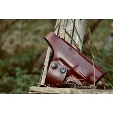 Easy on cross draw OWB leather holster