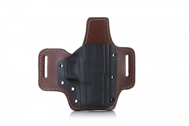 KYDEX BELT HOLSTER ON LEATHER PLATFORM