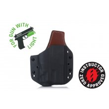 COMPACT HYBRID OWB HOLSTER FOR GUN WITH LIGHT
