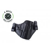 Timeless pancake IWB leather holster with snaps