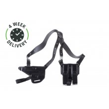 Timeless horizontal shoulder holster with counterbalance