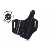 Timeless OWB leather holster with thumb-break for gun with laser/light